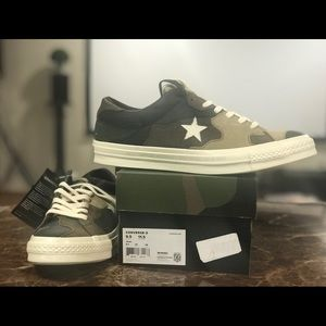 SNS x Converse One Star Brown Camo Size 9.5